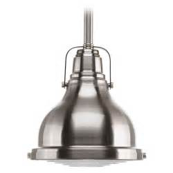 progress lighting fresnel lens brushed nickel mini pendant