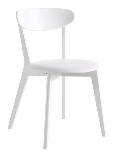 chaise blanche but chaise de cuisine contemporaine en bois blanc laqué lot