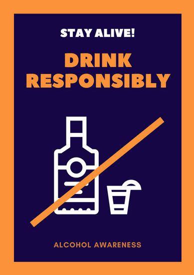 customize  alcohol awareness poster templates