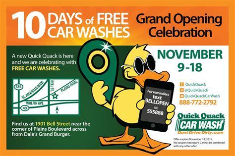 Quick Quack celebrates new Amarillo location with 10 days ...