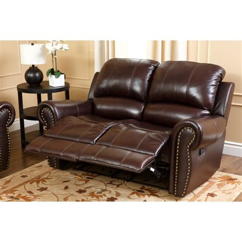 italian loveseat abbyson burgundy italian leather reclining