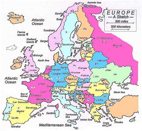europe maps time zones
