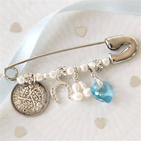 bridal charm pin by betty's glamour box