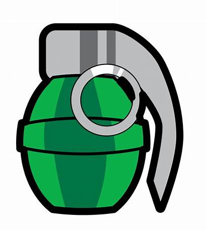Grenade Cartoon Clipart Clip Army Bomb Drawing