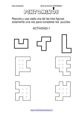 PENTOMINÓS RAZONAMIENTO LÓGICO Y PERCEPCIÓN VISUAL