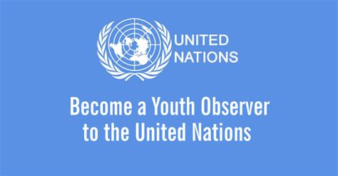 apply to be the 2017 2018 u s youth observer to the