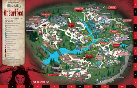 Busch Gardens Halloween Va by Howl O Scream Map Busch Gardens Williamsburg
