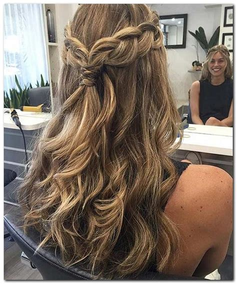 easy hairstyle half up half down cute hairstyles in