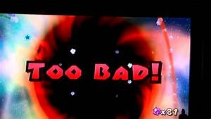 Super Mario Galaxy 2 Cosmic Cove Black Hole Deaths - YouTube