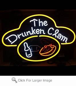 The Drunken Clam Neon Sign only $299 99 Best Sellers