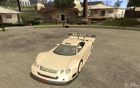 Mercedes-benz Clk Gtr Race Car For Gta San Andreas