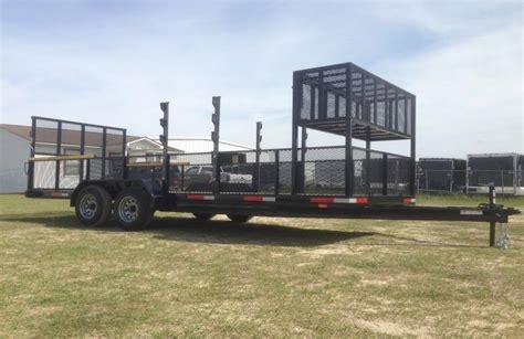 eater rack for trailer 7x20 tandem axle utility landscaping trailer jobsite