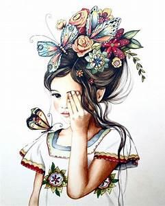 1001 images pour le dessin fille parfait des idees With amazing commenter obtenir les couleurs 3 photos de mode femme love
