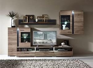 Möbel As Wohnwand : spots wohnwand anbauwand eiche schiefer in 2019 schrankwand anbauwand wohnzimmer und wohnen ~ Watch28wear.com Haus und Dekorationen