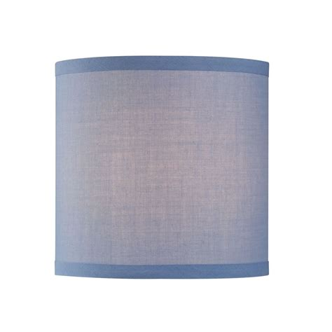 blue drum l shade uno drum l shade in blue linen sh9526 destination