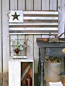 DIY Rustic Farmhouse Style American Flag Petticoat Junktion