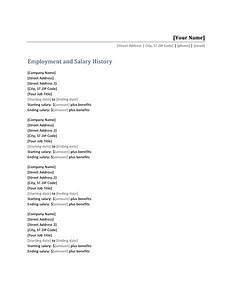 microsoft office 365 sample resume templates may 2013 With salary history template hourly