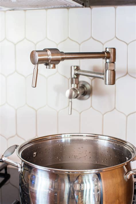installing  pot filler   kitchen diana elizabeth