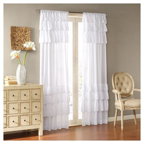 White Ruffle Curtains Target by Oversized Ruffle Curtain Panel White 50 Quot X84 Quot