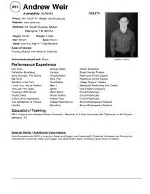 professional ballet dancer resume varieties of resume templates and sles