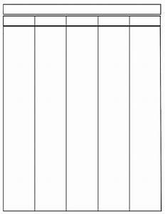 three column resume template - printable 5 column blank chart template free charts