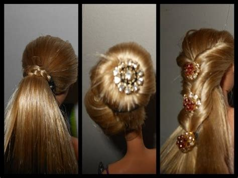 how to make doll hairstyle and clean your doll hair and