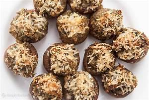 Classic Stuffed Mushrooms Recipe | SimplyRecipes.com