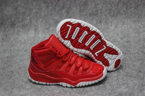 Nike Air Jordan Xi 11 Retro Bright Red Leather Basketball