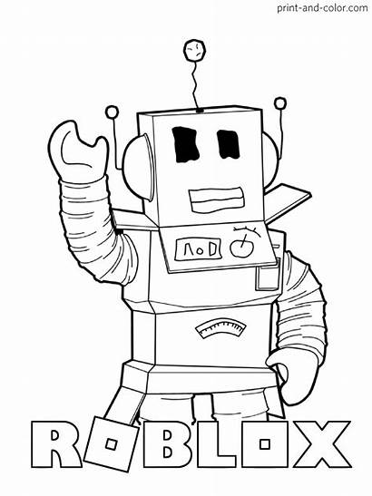 Roblox Coloring Pages Boy Printable Template Aesthetic