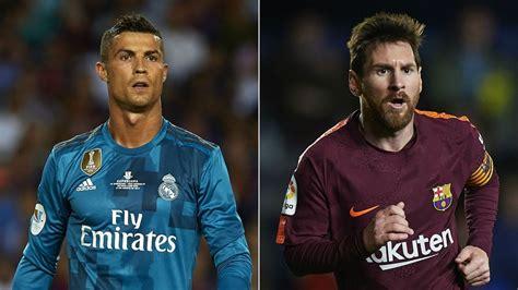 Real Madrid V Barcelona Ronaldo And Messi's Headtohead