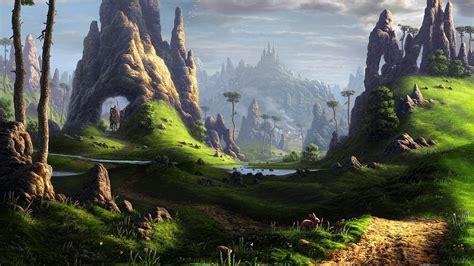 Fantasy Landscape Wallpaper 1920x1080 ·① Download Free