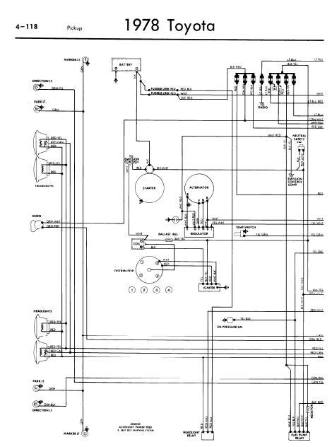 1980 Toyotum Truck Wiring Diagram by Repair Manuals Toyota 1978 Wiring Diagrams