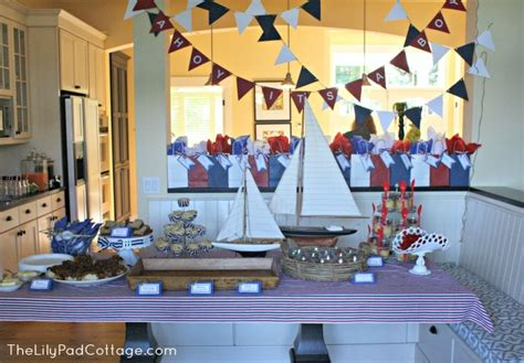 nautical baby shower decor ahoy it s a boy baby shower the lilypad cottage