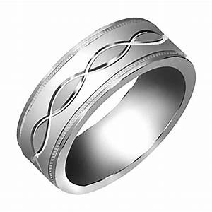 14k white gold celtic infinity knot men39s comfort fit With mens infinity wedding ring