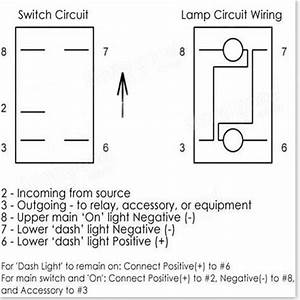 5 Pin 12v 24v Laser Led Light Bar Rocker Toggle Switch