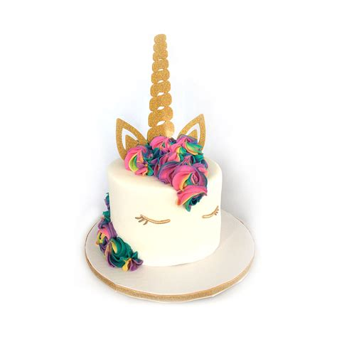 unicorn horn and ears cake topper brickbubble