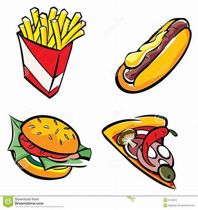 Clipart Fast Fastfood Unhealthy Cliparts Junk Convenience
