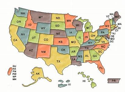 Map Clip Project Clipart Cliparts Usa States