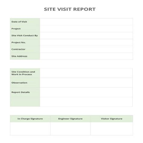 visit report templates  word   format