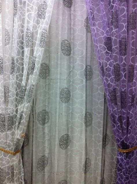 sheer voile curtain fabric cs 02 280cm high peony pattern voile curtain fabrics