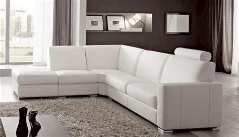 magasin de canapé cuir canap angle en simili cuir vachette blanc