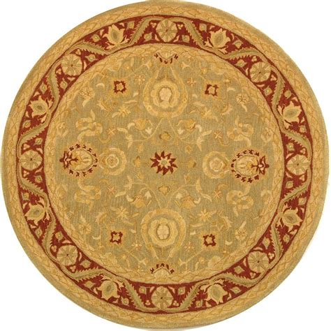 4 Area Rugs by Safavieh Anatolia Light Green 4 Ft X 4 Ft Area