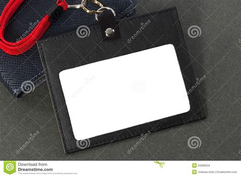 id card holder stock photo image  meeting desk