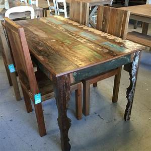 reclaimed wood dining table nadeau nashville With dining chairs for reclaimed wood table