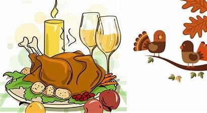 Cartoon Thanksgiving Turkey Dinner Happy Meat Background