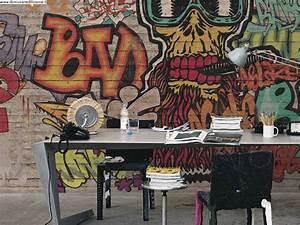 Carta Da Parati Murales : carta da parati soggetto graffiti per area bambini ~ Frokenaadalensverden.com Haus und Dekorationen