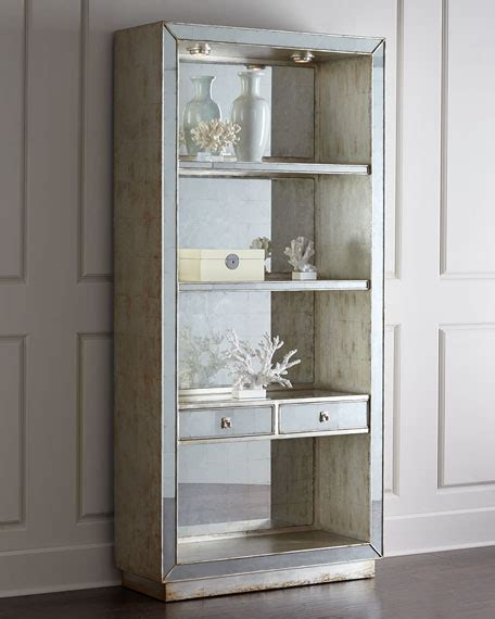 john richard collection regent mirrored bookcase