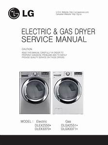 Lg Dlex3370v Dlex3370w Dryer Service Manual