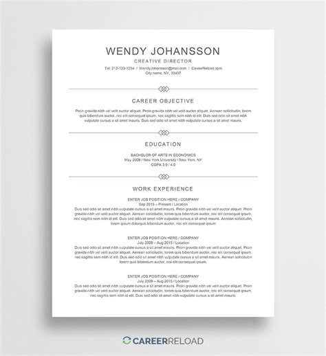 Free Resume Sles Templates by Free Resume Templates Free Resources For