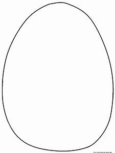 Free blank easter egg coloring pages